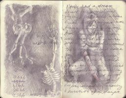 Sketchbook Weirdness and Dream by key-0