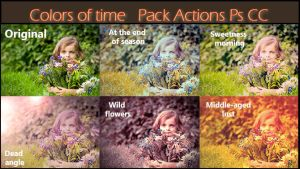 Colors of time    Pack Actions Ps CC by Tetelle-passion