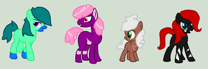 Small batch of ponies by Dulcet-Adopts