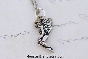 Tiny Fairy Necklace by MonsterBrandCrafts