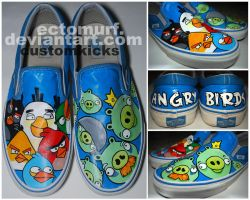 Angry Birds Shoes by ectomurf