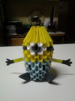 3d origami Despicable me Minnion by Dragon01fan