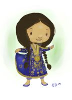 Little Saudi Girl by HRillustrations