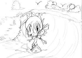 Aaron: Surf's up dudes sketch by Armonsterz