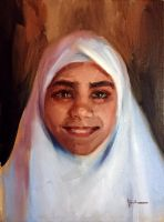 Portrait of a Palestinian Child by m-ajinah