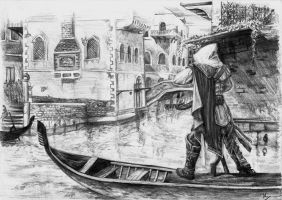Ezio in Venice by froggywoggy11