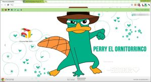 Theme Google Chrome Perry the platypus BY Sonrix by a-Sonrix