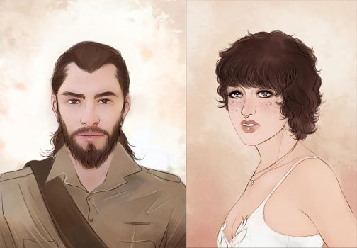 OCs commission portraits by Everybery