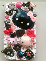 Iphone 4 hello Kitty Punk Phone case by Luna-Goodies