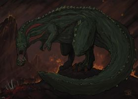 Deviljho, the Great Devourer by Halycon450