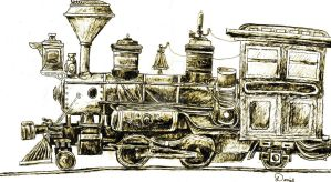 2-4-2 steam locomotive by dinodanthetrainman