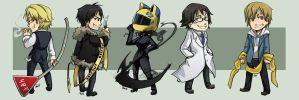 Stickers - Durarara by oneoftwo