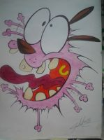 Courage the Cowardly Dog by CuteCakeMonster1987