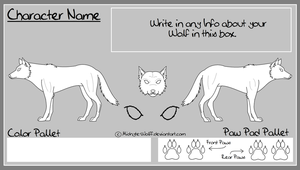 Wolf Character Sheet Base by Midnyte-Wolff