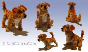 Golden Retriever Pipe Cleaners by kalicothekat