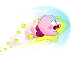 ''Pink Blur Speeds by, Kirby the Puffball!'' by Rotommowtom