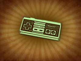 NES Controller Retro Wallpaper by bschulze