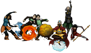 The Legend of Korra Google Doodle by Luminanza