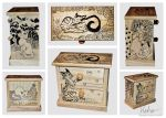Cats in commode woodenbox by ElaRaczyk