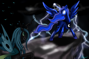 Luna VS Chrysalis by Protozerg