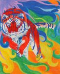 Fun With Colors - Red Tiger by WindSong83