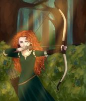 Merida in the Woods by Jazzie560