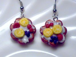 Fimo Earrings - cookies by sississweets
