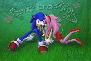 SonAmy Wallpaper by Called1-for-Jesus
