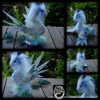 Peacock Amphithere - Handmade OOAK art doll by SonsationalCreations