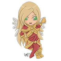 Advent day 21 - LoL - Kayle by enchanted-enigma