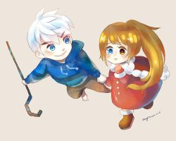 Chibi Jack Frost and Alice Amika Ludwig by amy30535