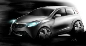 Chevrolet Corsa facelift front by Carloske
