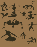 Silhouette sketches by Cobean