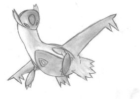 Latios Drawing by duelistshdow123