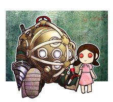 BigDaddy and LittleSiste by bloodink6