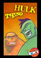 3D Hulk and Thing by marespro13
