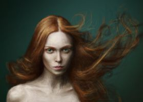 Girl on fire by dybicki