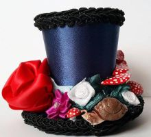 Into the Garden mini top hat by OddLocksCreations