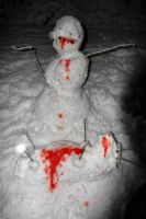 Snowman From Hell by alice-duckets