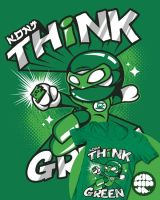 Think Green for Threadless by supermanisback