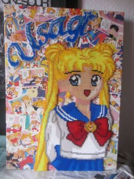 Usagi Perler with background by Awi87