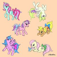 Mane Six by LilBambina