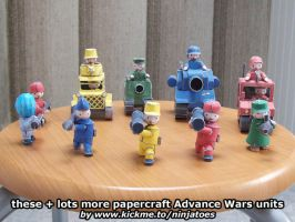 Papercraft Advance Wars Mech + other units by ninjatoespapercraft