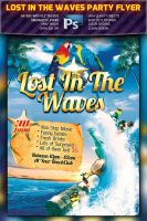 Lost In The Waves Party Flyer -PSD- by squizmo