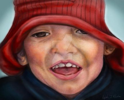 Speed Paint: Little boy and his funny hat by KysSillyDesignStudio