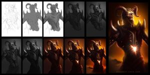 Demon quick concept process by TheFearMaster