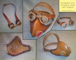 Steampunk Gasmask with Goggles by Noctiped