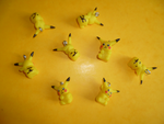 Hand made figures of Pikachu by TheLittlelight