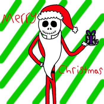 Jack Skellington As Sandy Claws  by ILoveMyCat456