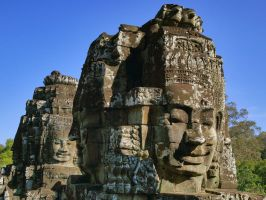 Bayon Faces 1 by CitizenFresh